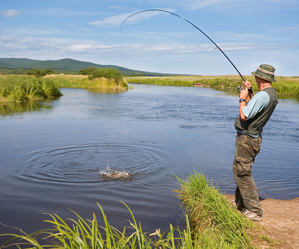 рыбалка на затейливом озере